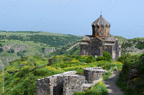 Church in the Armenian Caucasus near the Amberd fort
