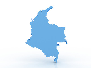 Colombia map 3d