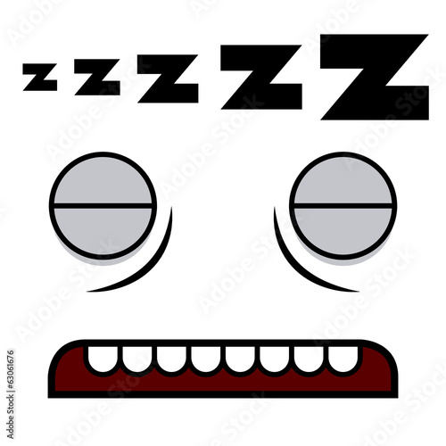 A Vector Cute Cartoon Sleeping White Face