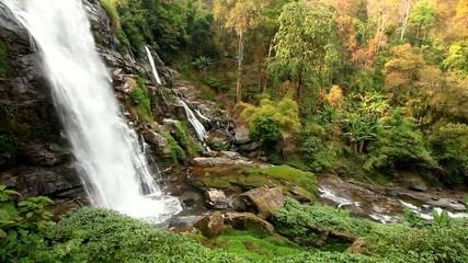 vachiratharn waterfall, doi inthanon, chiangmai Thailand