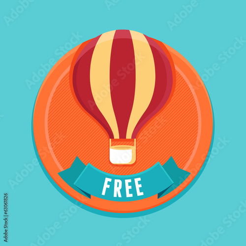 Vector badge - free product or service sign