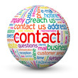 """CONTACT"" Tag Cloud Globe (faq call us details customer service)"