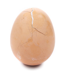Broken boiled egg.