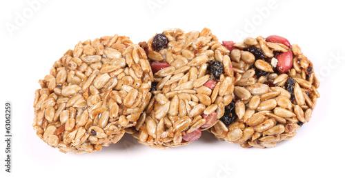 Honey bars with peanuts sunflower seeds - 63062259