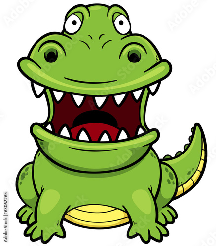 Vector illustration of Cartoon crocodile