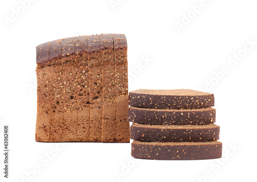 slices of black bread