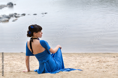 girl in the beach