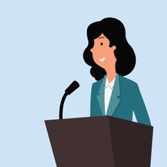 businesswoman speech