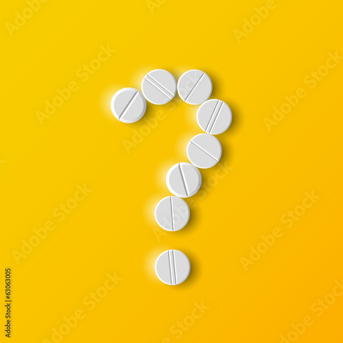 question mark of the pills