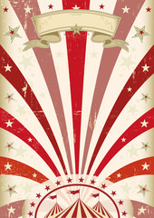 Vintage red circus poster