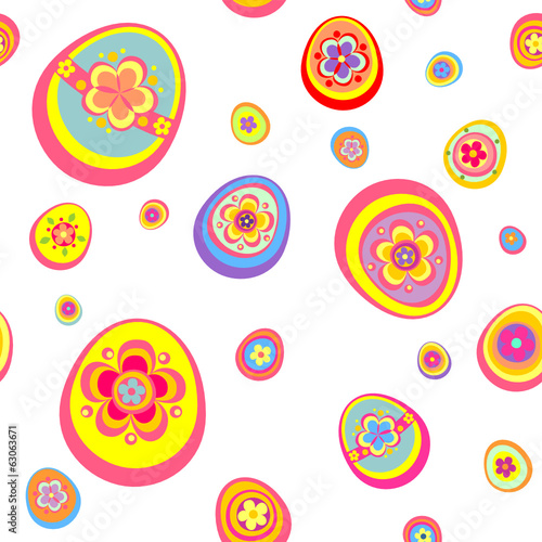 Easter wallpaper with funny colorful eggs