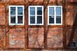 canvas print picture - three windows