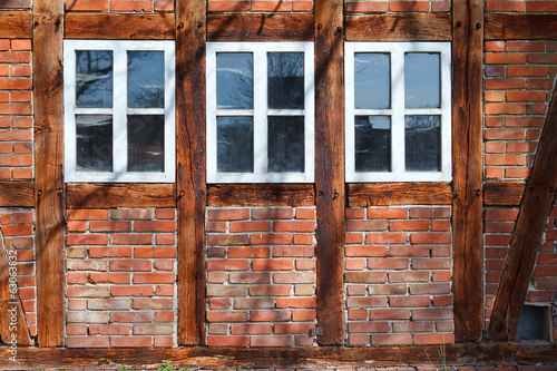 canvas print picture three windows