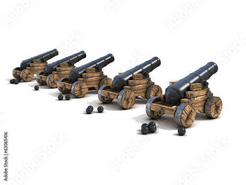 cannons on a white background