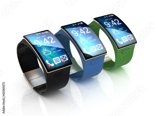 smart watches in different colors