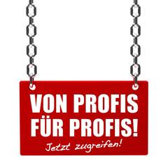 Von Profis für Profis! Button, Icon