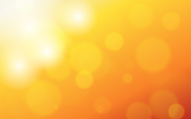 summer orange background with bokeh and lens flare