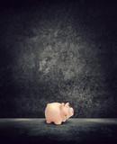 piggy bank dark room