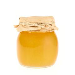 Closed honey jar