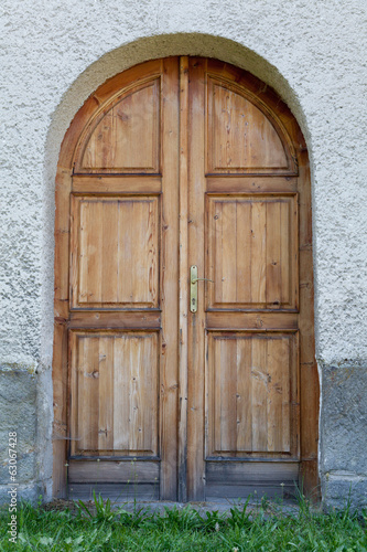 Ancient styled door in Slovakia, central Europe