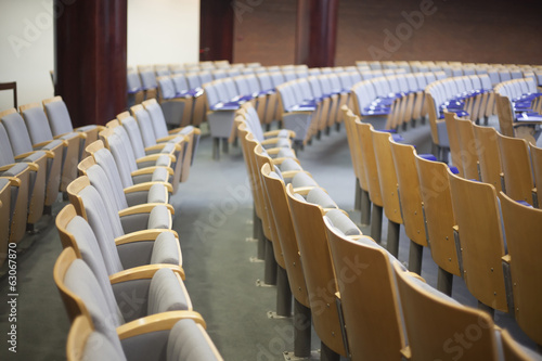 empty auditorium seats at court house