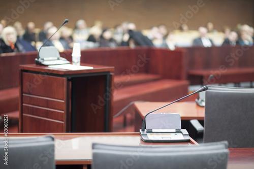 Leinwanddruck Bild court house interior