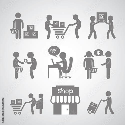 shopping and delivery symbol