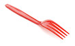 Red plastic fork