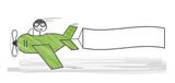 Fototapety Werbeflugzeug mit Textfreiraum