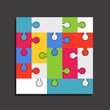Abstract color puzzle template