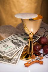 holy communion and dollar money