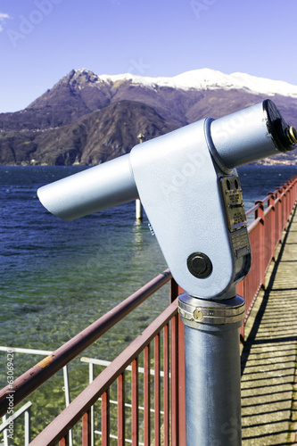 Lecco lakeshore viewpoint color image
