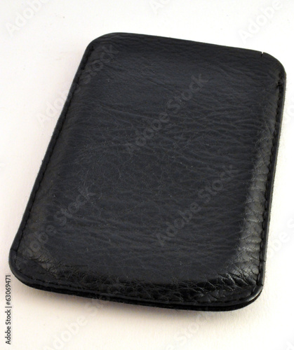 black leather case for mobile phone
