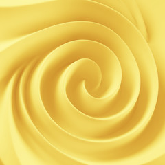 Golden soft butter spiral swirl