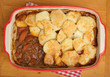 Beef Stew with Potato Gratin Topping