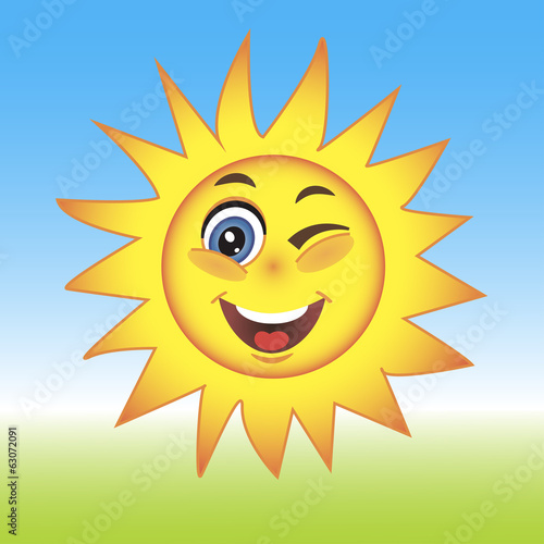 Vector Illustration of a Summer Sun