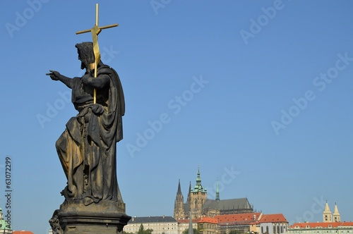Statue at Charles Bridge