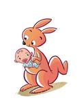 canguro con bebe