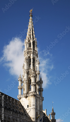 Brussels Town Hall on Grand Place. Belgium