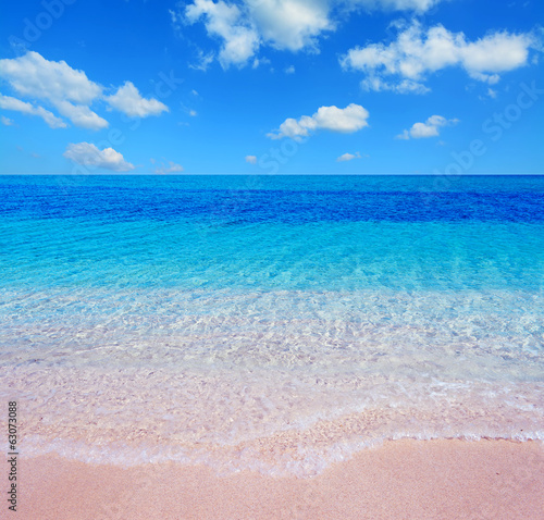 pink beach and clouds
