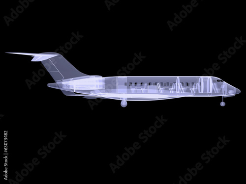 Plane with internal equipment. X-ray image - 63073482