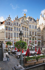 Guildhalls on the Grand Place in Brussels. Belgium