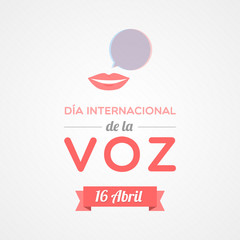 World Voice Day in Spanish