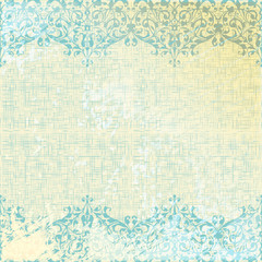 vector vintage beige and turquoise floral background