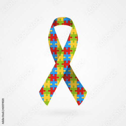Puzzle awareness ribbon (Autism)