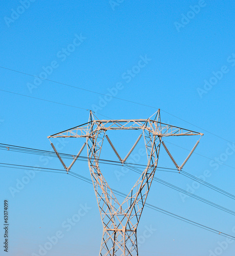 blue sky and pylon