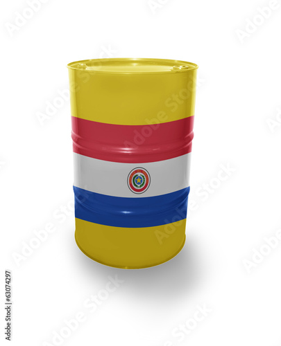 Barrel with Paraguayan flag