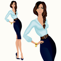 Casual style attractive business woman