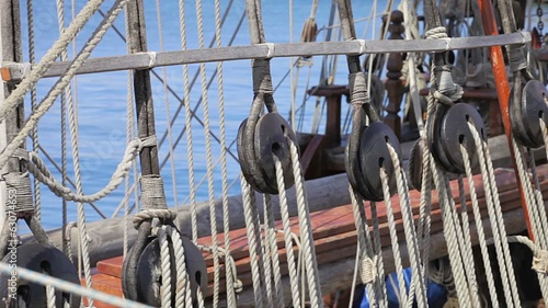 Ropes - Antique pirate sail ship