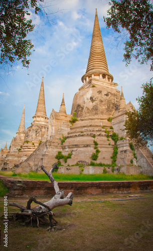 The Big Pagoda at Wat Phra Si San Phet Ayutthaya Thailand